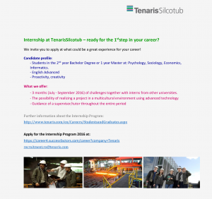 Internship_2016_-_Tenaris_Silcotub